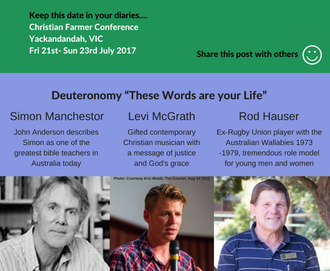 Truly Incredible Speakers For Upcoming CFC Yackandandah Camp 2017