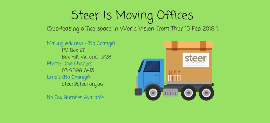 Steer Incorporated is moving offices….